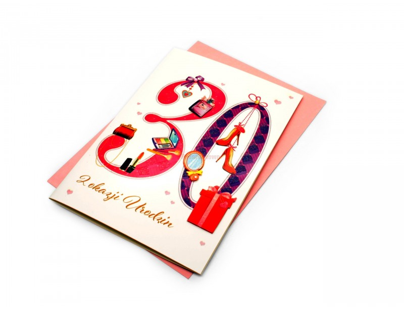 Karnet - Z okazji 30 urodzin (dla niej)