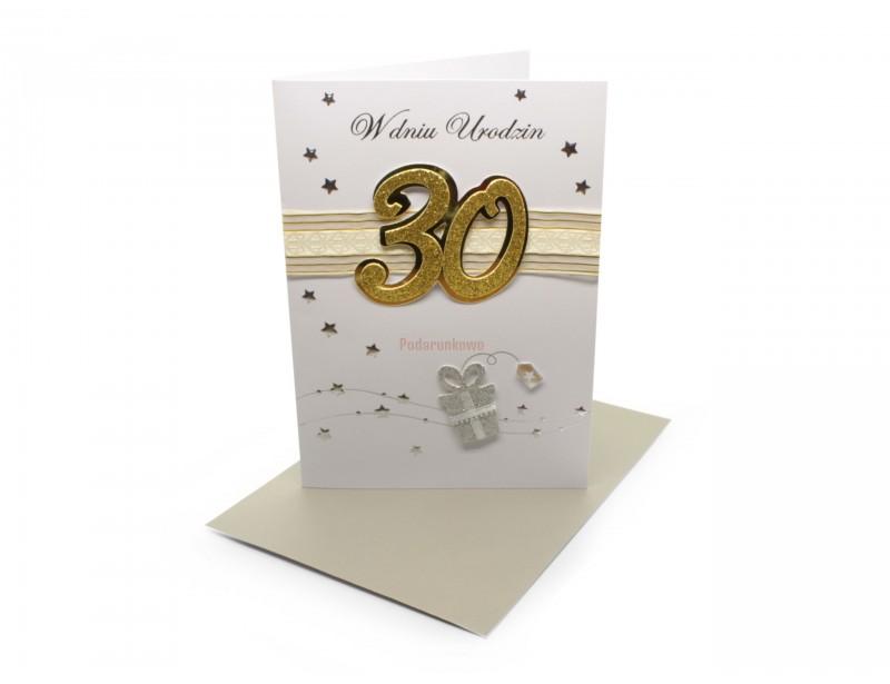 Karnet - W dniu 30 urodzin