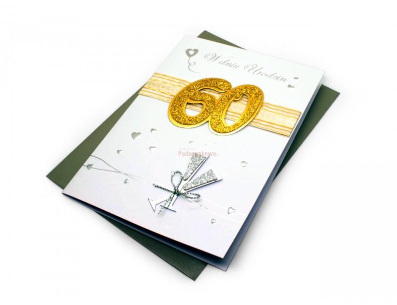 Piękny i stylowy karnet to doskonały dodatek do prezentu urodzinowego z okazji 60 urodzin.
