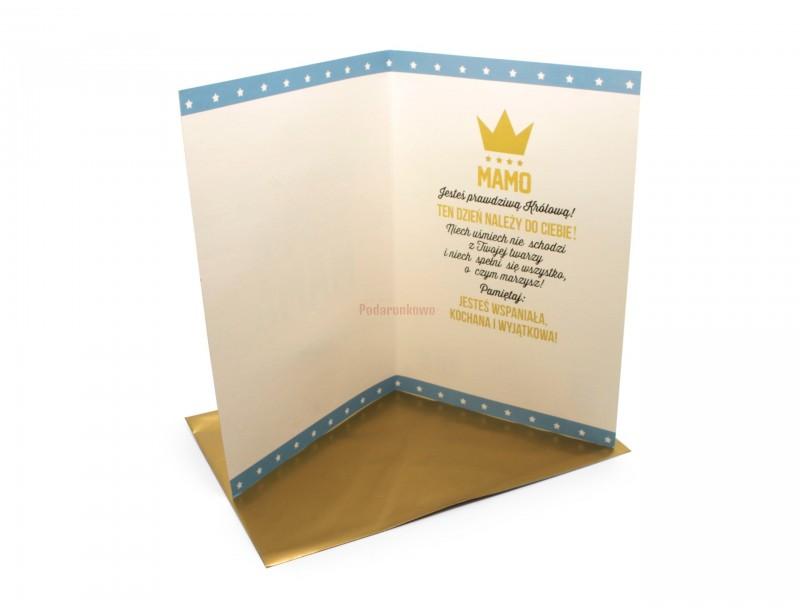 Królewski karnet dla najlepszej Mamy. Karnet wygląda rewelacyjnie.