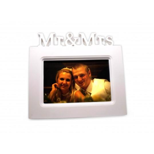 Ramka na zdjęcia ślubne - Mr & Mrs