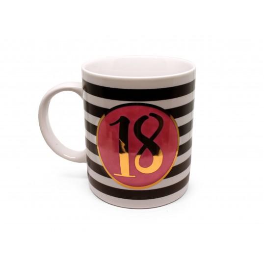 Kubek - 18 Urodziny Premium Róż