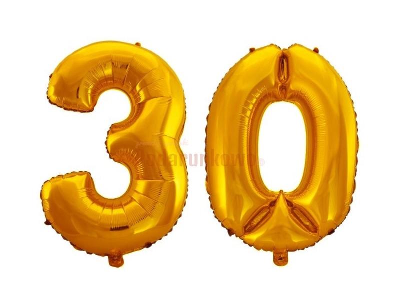 Świetne, sprężyste balony foliowe w kolorze złotym to doskonały pomysł na prezent z okazji 30 urodzin :)