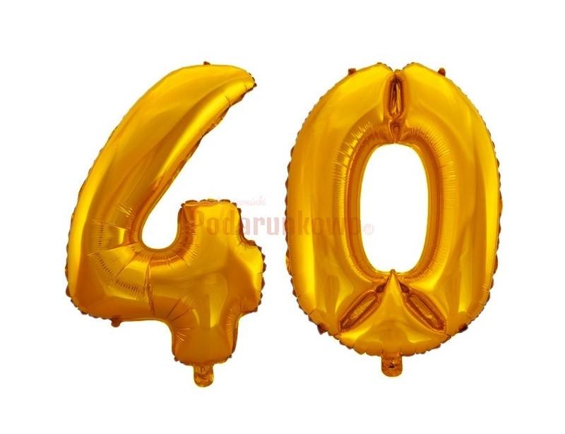 Piękne, puszyste balony foliowe w kolorze złotym to idealny prezent na 40-stkę :)