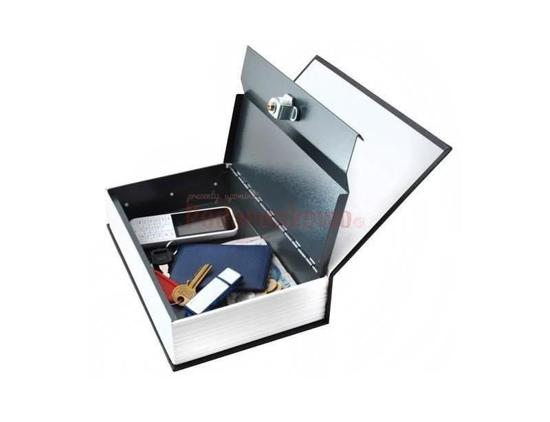 Świetny schowek w książce, w którym schowasz swoje skarby. Pod postacią zwykłego słownika języka angielskiego kryje się metalowa skrytka zamykana na kluczyki. To fajny gadżet dla osób szukających pomysłowego prezentu lub dla kogoś chcącego ukryć coś przed światem :)