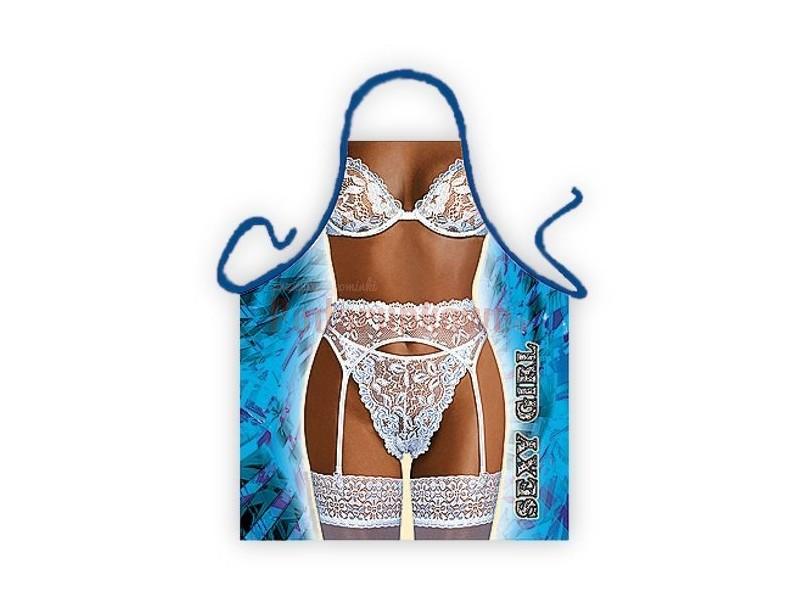 Rewelacyjny sexy fartuszek z dowcipnym wzorem to wspaniały prezent na wieczór panieński czy też 18-stkę