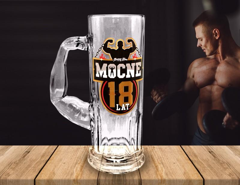 Twój kolega ma 18 urodziny. Fajnym pomysłem na prezent z tej okazji jest oryginalny kufel - kufel Strong Mana z uchem w kształcie bicepsa.