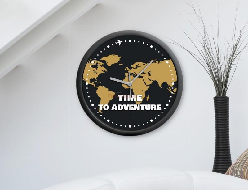 Mamy zaszczyt przedstawić wspaniały prezent dla podróżnika. Elegancki zegar ścienny, który przypomina, że każdy czas jest dobrym czasem na przygodę :)