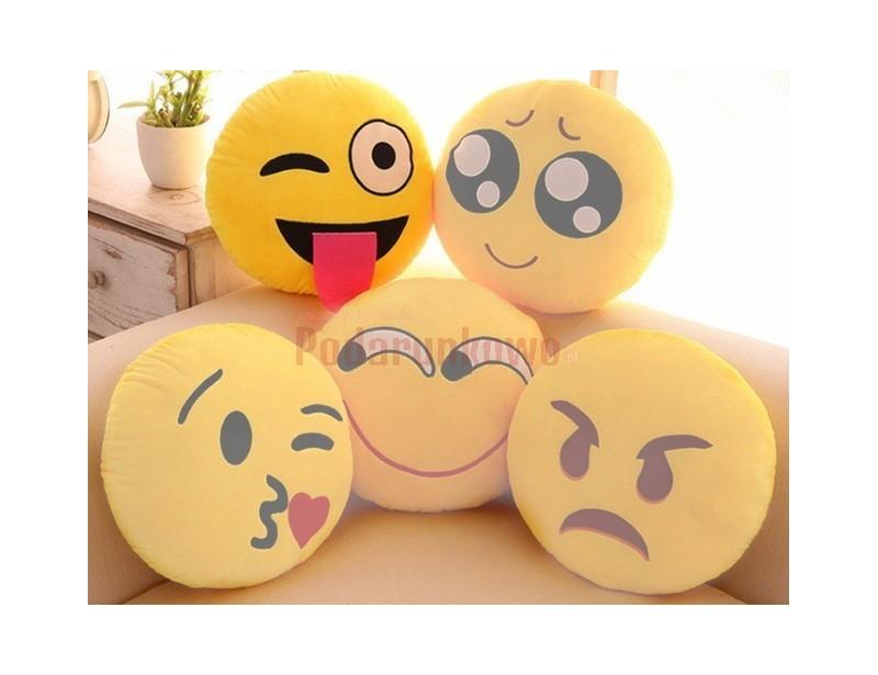 Wesoła, optymistyczna poduszka emotikonka, która sprawdzi się, jako prezent dla dziewczyny :) Ma radosne kolory, jest mięciutka i milutka w dotyku.