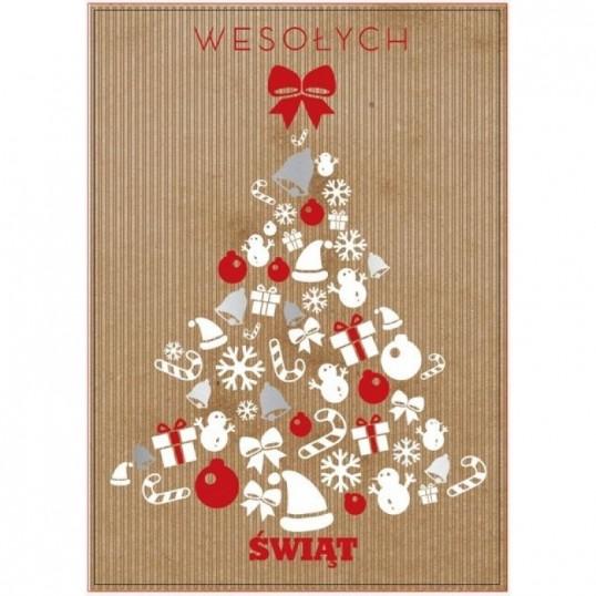 Karnet - Wesołych Świąt