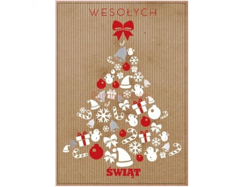 """Piękny karnet świąteczny """"Choinka"""" pozwala być blisko nawet z tymi, którzy mieszkają daleko od nas."""