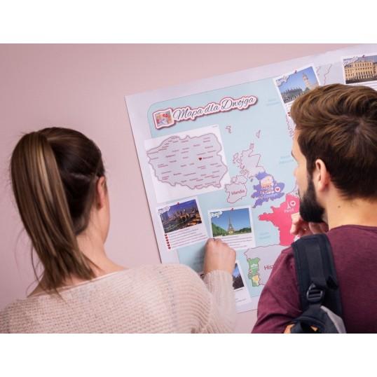 Mapa zdrapka Odkrywcy - Dla Zakochanych