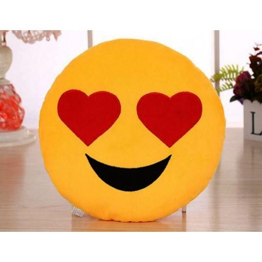 Prezent na Walentynki - Poduszka - Emotikona Kocham Cię