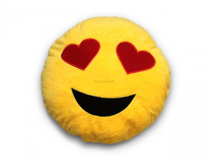 """Piękna poduszka emotikonka """"Kocham Cię"""" wyraża więcej niż milion słów :) To idealny prezent dla ukochanej osoby na Walentynki :)"""