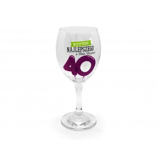 Kieliszek do wina Happy - 40 urodziny