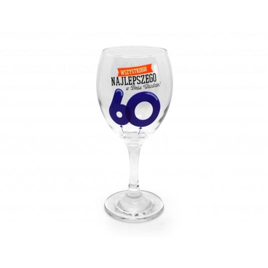 Kieliszek do wina Happy - 60 urodziny