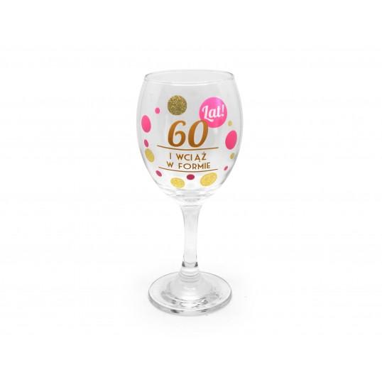 Kieliszek do wina Pink - 60 urodziny