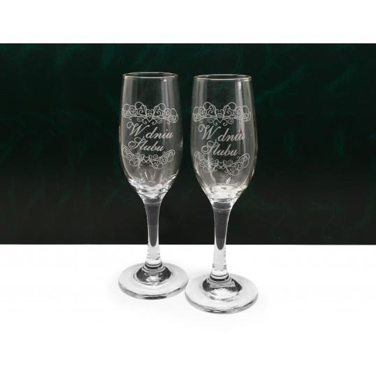 Kieliszki do szampana 2szt. - W dniu Ślubu