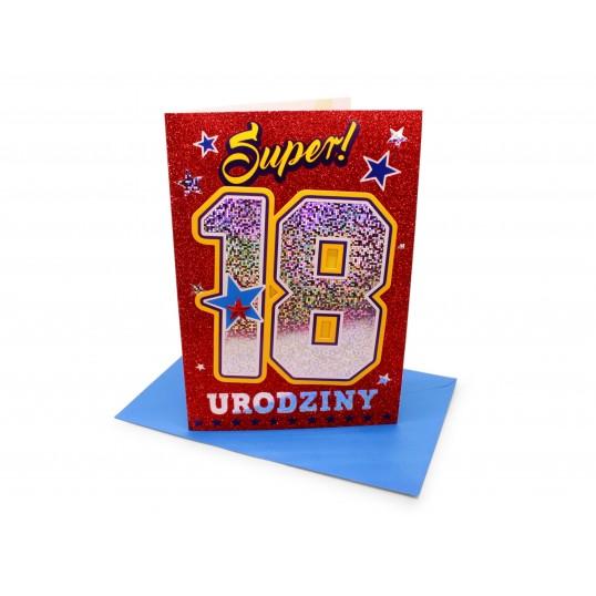Karnet - Super 18 urodziny