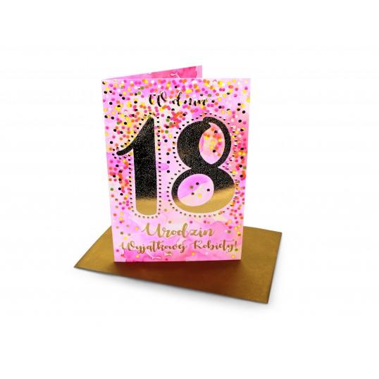 Karnet - W dniu 18 Urodzin Wyjątkowej Kobiety