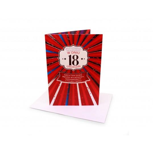 Karnet - 18 urodziny - Wszystkiego najlepszego
