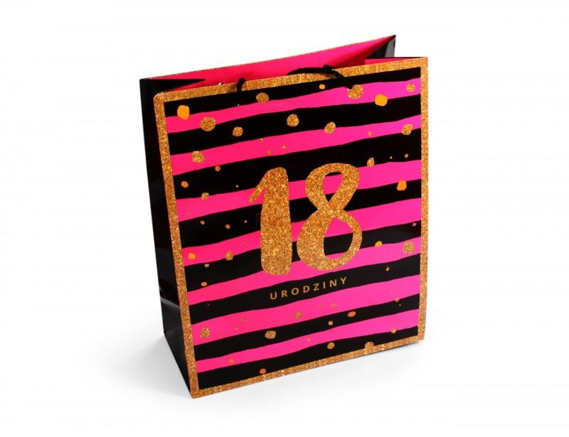 Elegancka, solidnie wykonana torebka prezentowa dla dziewczyny lub chłopaka, pomieści w sobie wiele dobrego :)