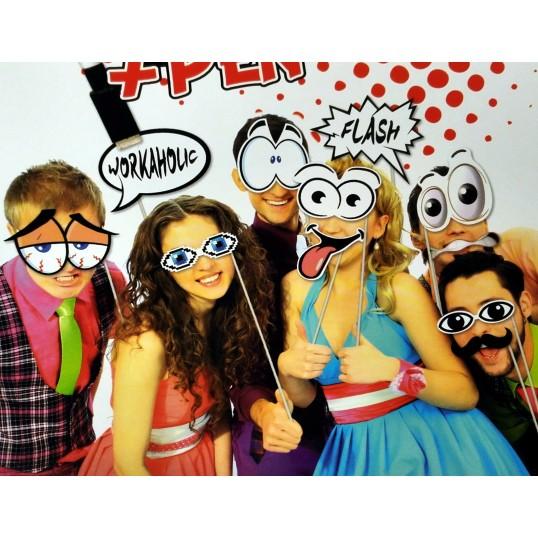 Imprezowe akcesoria do zdjęć z flamastrem (Fotobudka)
