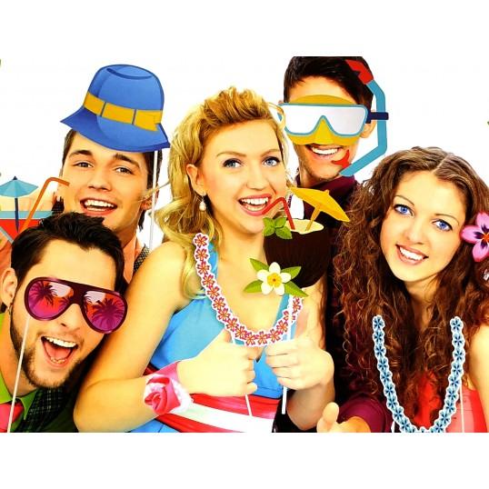 Imprezowe akcesoria do zdjęć - Hawaje (Fotobudka)