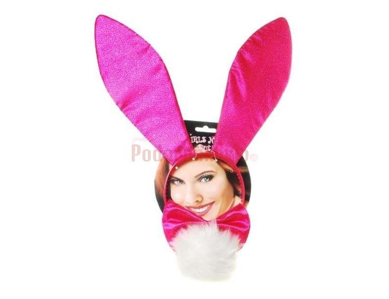 Zestaw uszy króliczka + muszka + ogonek jest idealnym prezentem na wieczór panieński!