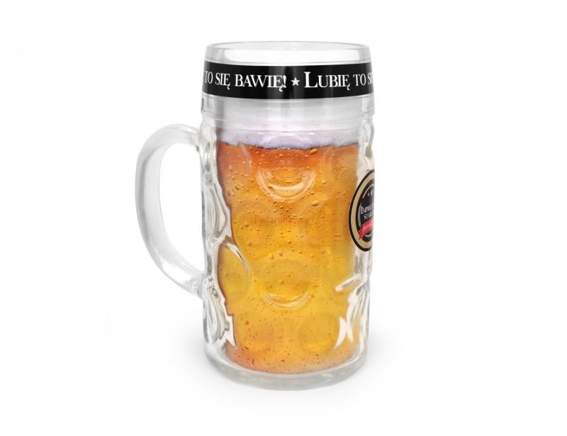 Mega duży kufel to idealny upominek dla mężczyzny, który lubi sobie duuuużo wypić :) Kufel wykonany jest z wysokiej jakości szkła a jego objętość wynosi aż 1 litr.