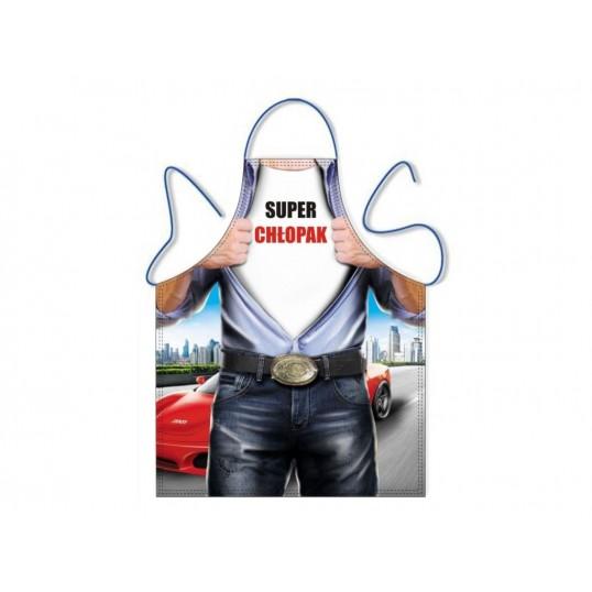 Fartuszek kuchenny męski - Super Chłopak