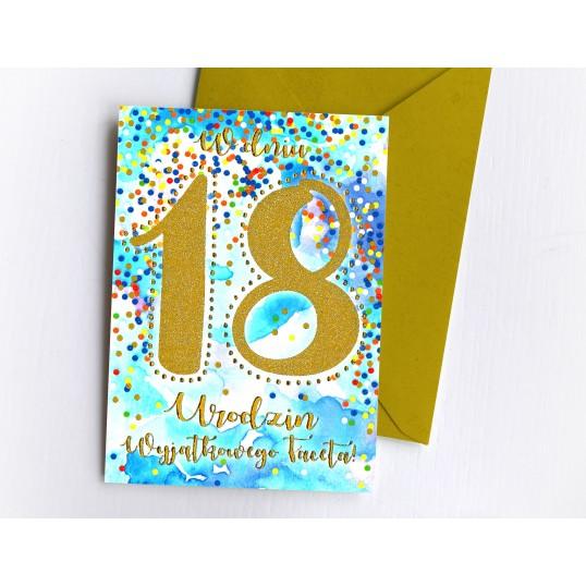 Karnet - W dniu 18 Urodzin Wyjątkowego Faceta