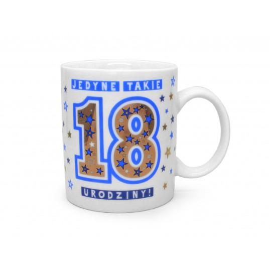 Kubek Premium - Jedyne takie 18 urodziny (dla chłopaka)