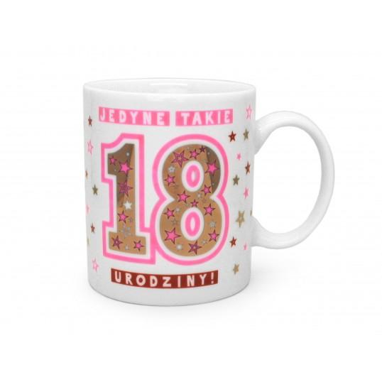 Kubek Premium - Jedyne takie 18 urodziny (dla dziewczyny)