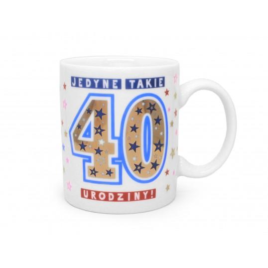 Kubek Premium - Jedyne takie 40 urodziny