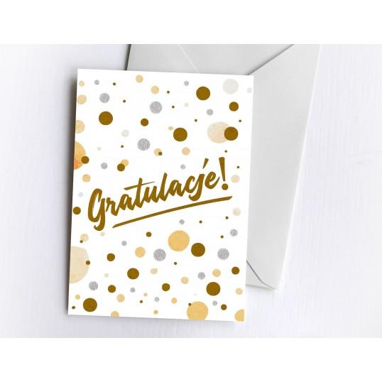 Karnet - Gratulacje (Gold)