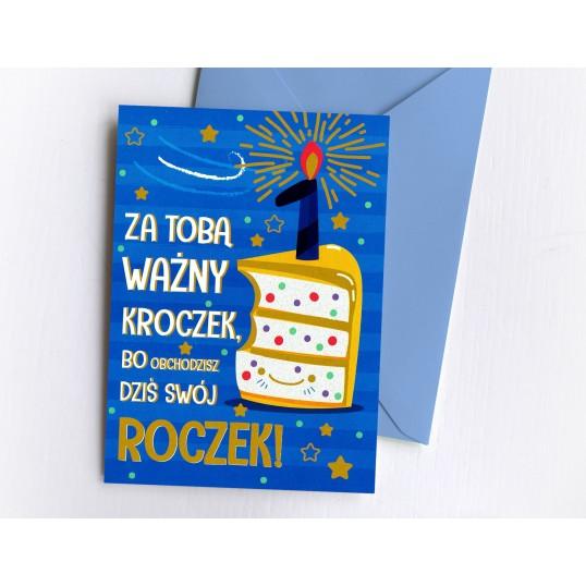 Karnet - Na roczek - Tort