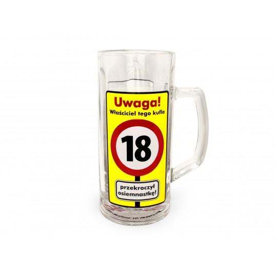 Kufel na piwo - Uwaga Przekroczone 18 lat