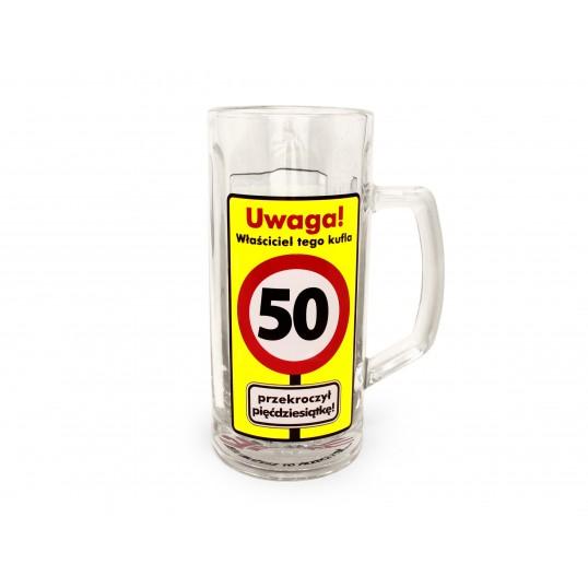 Kufel na piwo - Uwaga Przekroczone 50 lat