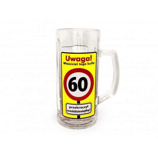 Kufel na piwo - Uwaga Przekroczone 60 lat