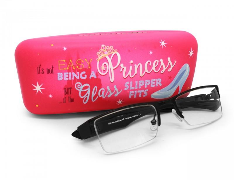 Miły i śliczny prezent dla koleżanki. Etui na okulary dla prawdziwej księżniczki, która uwielbia gadżety z dziewczęcymi aplikacjami.