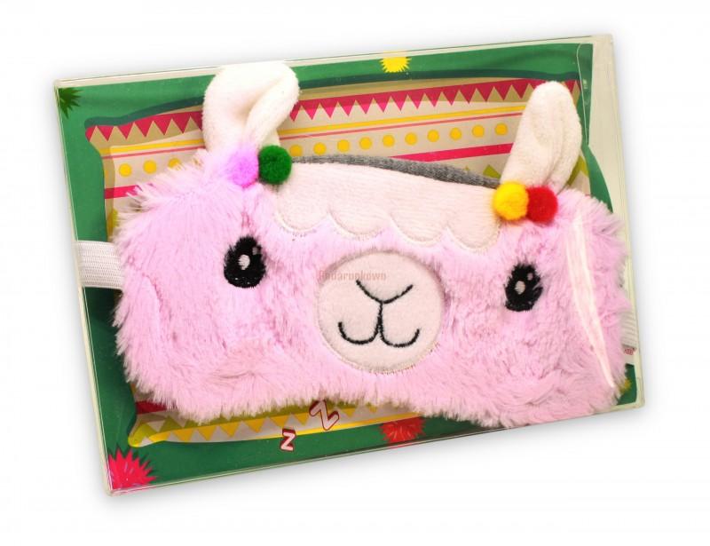 Śliczna opaska do spania w kształcie modnej lamy to strzał w dziesiątkę!