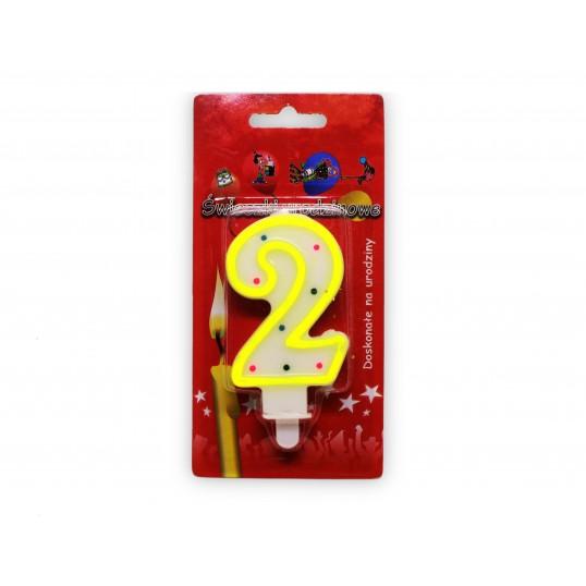 Urodzinowa świeczka cyferka 2