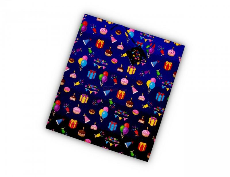 Torebka wykonana jest z wysokiej jakości papieru, posiada oryginalną grafikę - idealną na urodziny. Torebka jest duża i pomieści w środku nawet kilka gadżetów :)