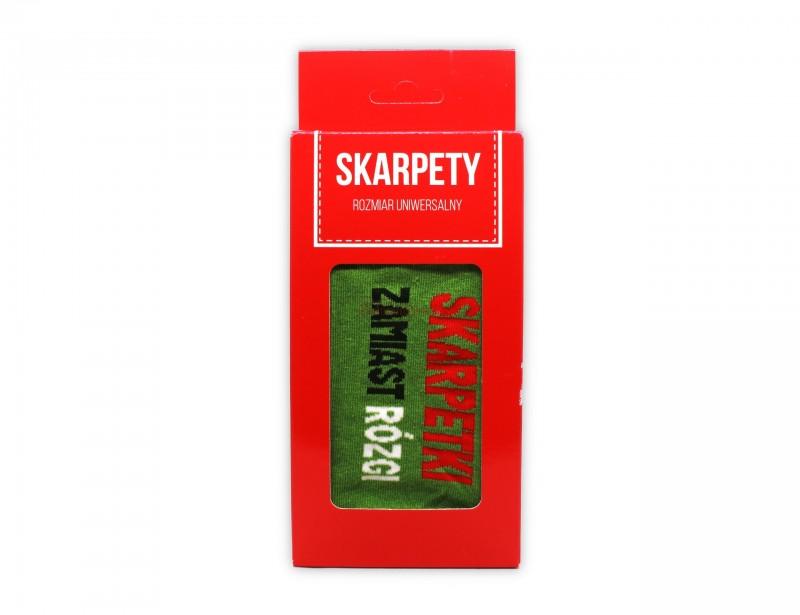 Skarpety zamiast rózgi to doskonały prezent na klasowe Mikołajki lub wspaniały, śmieszny prezent dla męża, brata lub dla koleżanki :)