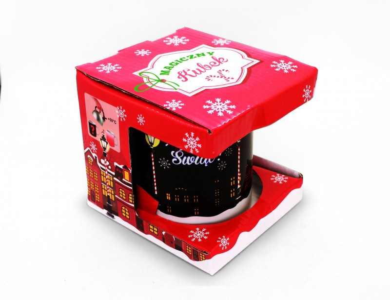 Zaskakujący, magiczny kubek na Święta Bożego Narodzenia. Dzięki swoim wspaniałym właściwościom zmieniania kolorów - roztacza wokół siebie magiczny klimat i zachwyca nas za każdym razem :)