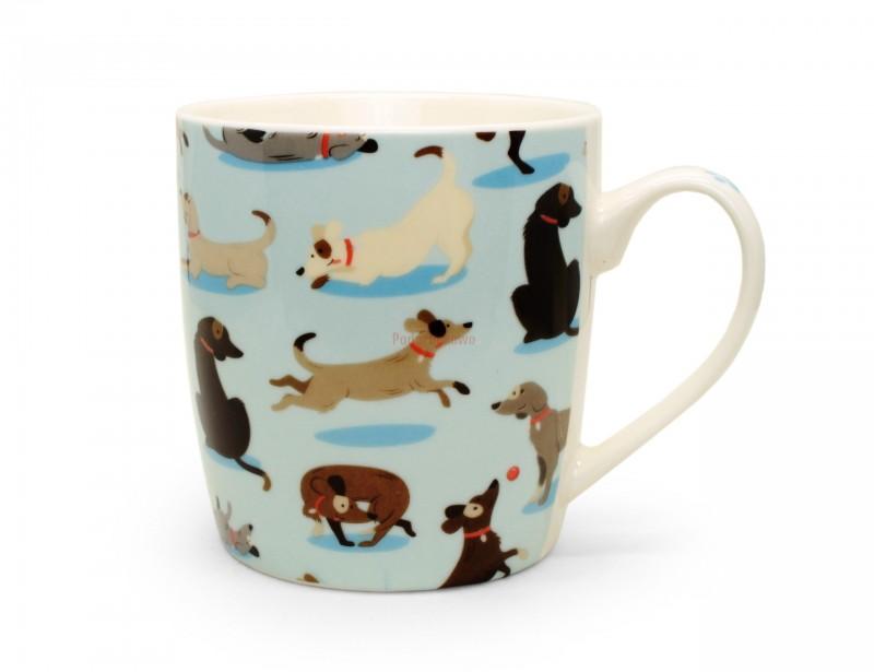 Śliczny, stylowy kubek z psem to idealny prezent dla koleżanki, która uwielbia zwierzęta.