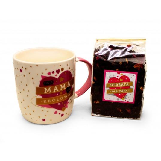 Zestaw Kubek dla mamy + Herbata - Moja mama jest królową