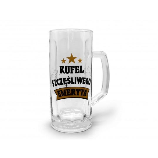 Kufel na piwo - Szczęśliwego Emeryta GOLD