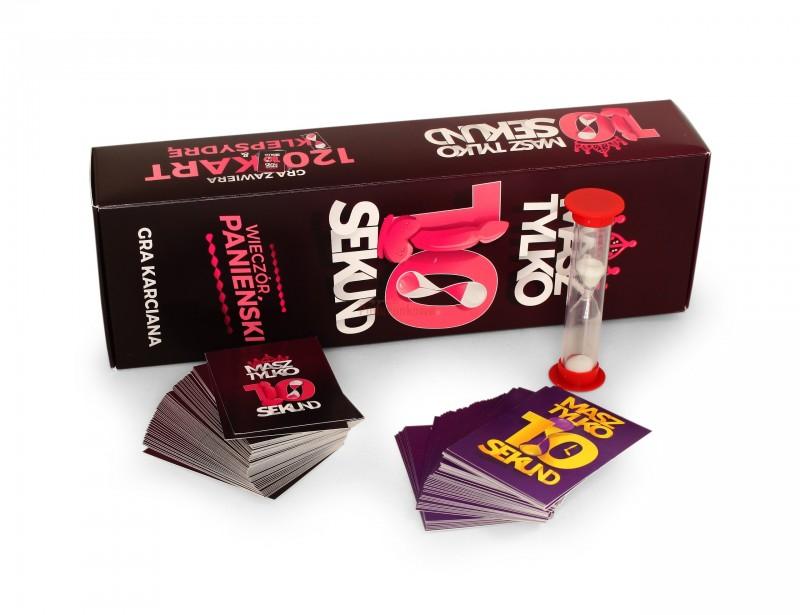 Gra na wieczór panieński 10 sekund to znakomita propozycja na zabawę w trakcie Ostatniej Nocy Wolności. Polecenia zapisane na kartach gwarantują dużo śmiechu i pozwolą Wam uwolnić Waszą kreatywność :)